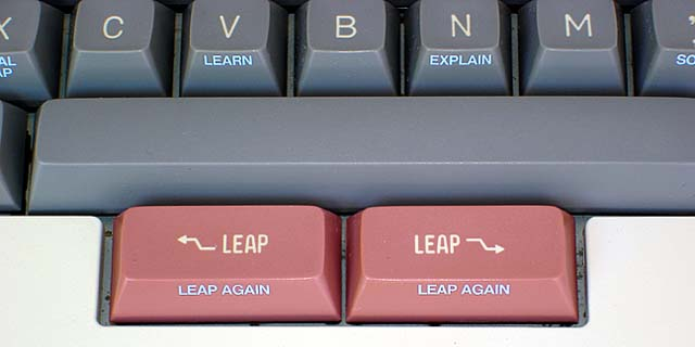 Detail of the LEAP keys on a Canon Cat